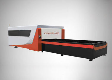 High Speed CNC Metal fiber laser cutter Raycus / Max / IPG With Exchange Platform